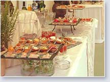 buffet repas reception cocktail